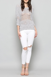 Fate Crop Chenille Sweater - Product Mini Image