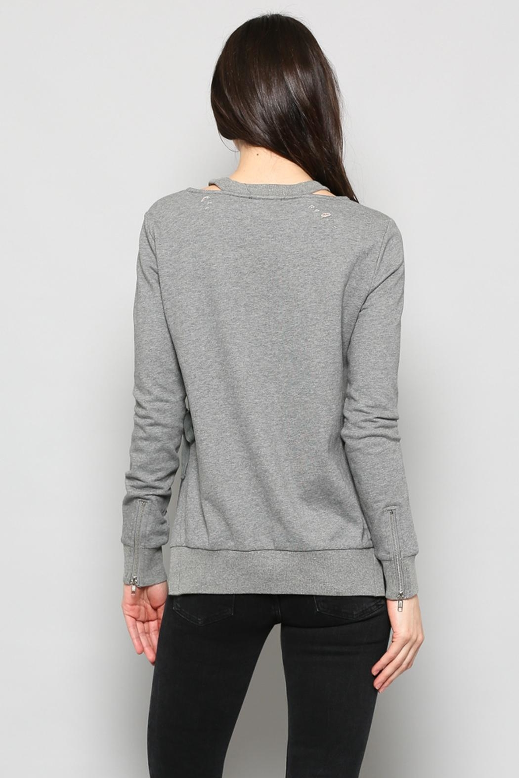 Fate Distressed Sweatshirt - Back Cropped Image