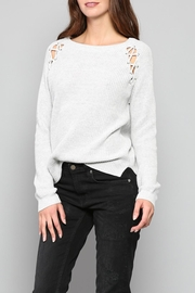 Fate Eyelet Shoulder Sweater - Front cropped