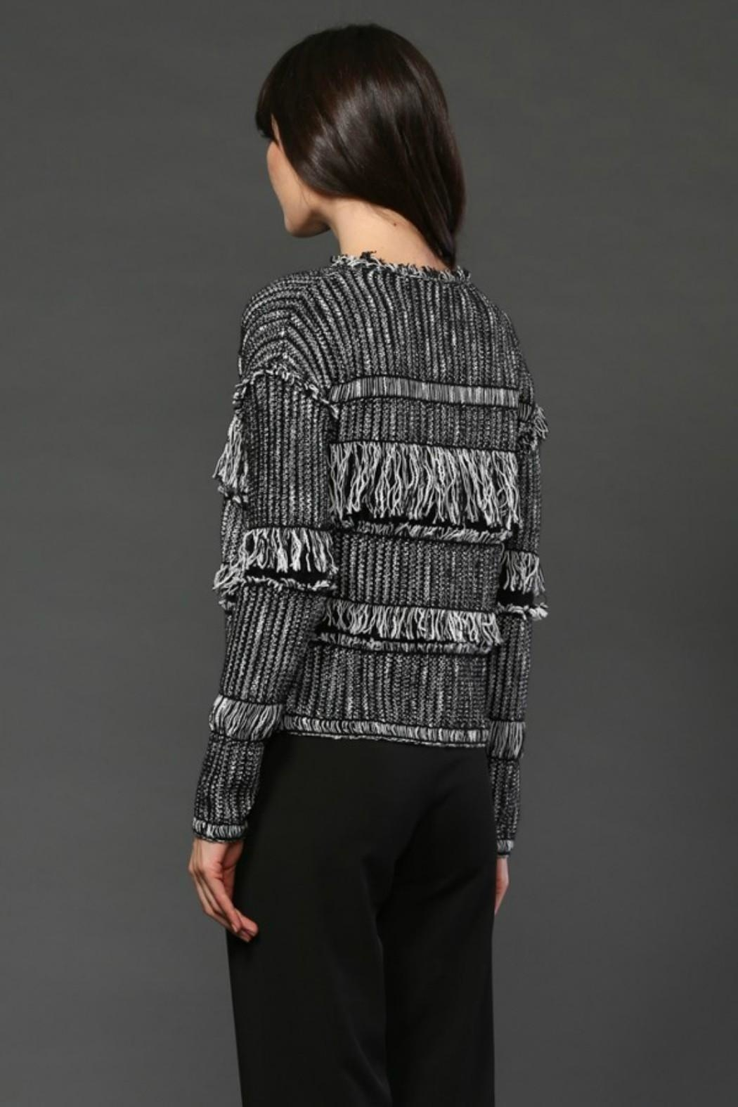 Fate Fringe Cardigan - Side Cropped Image