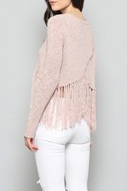 Fate Fringe Croped Sweater - Product Mini Image