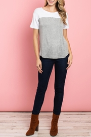 Fate Gray-White Two-Tone Top - Product Mini Image