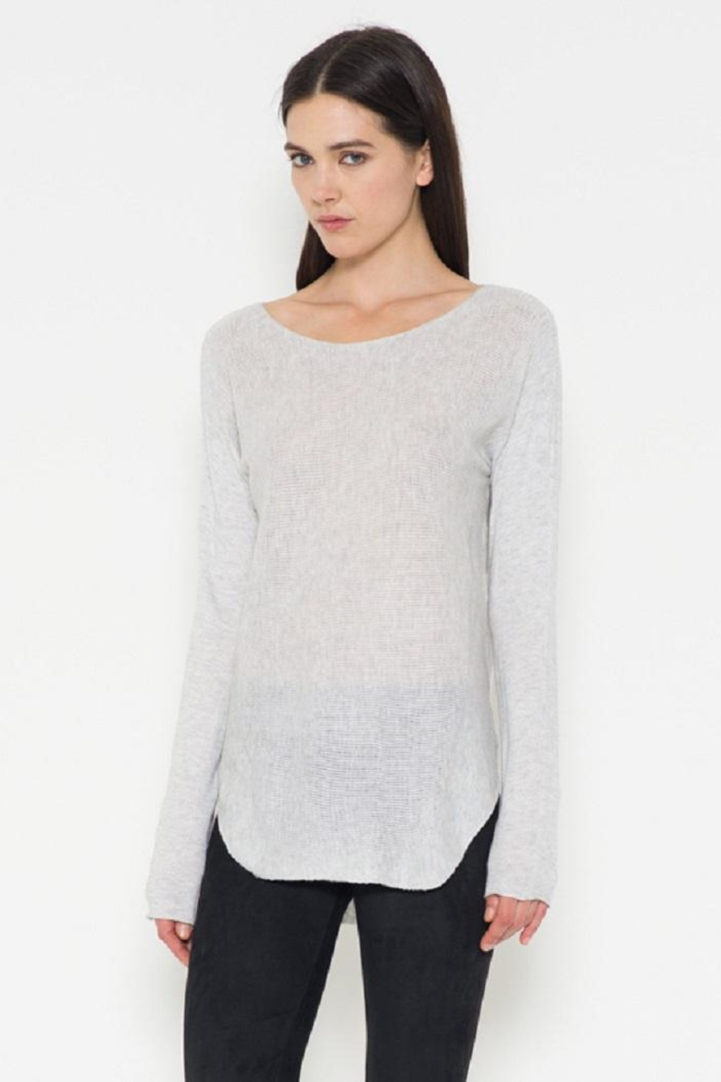 Fate Grey Pullover Sweater - Side Cropped Image