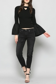 Fate Keyhole Bell Sleeve Top - Front cropped
