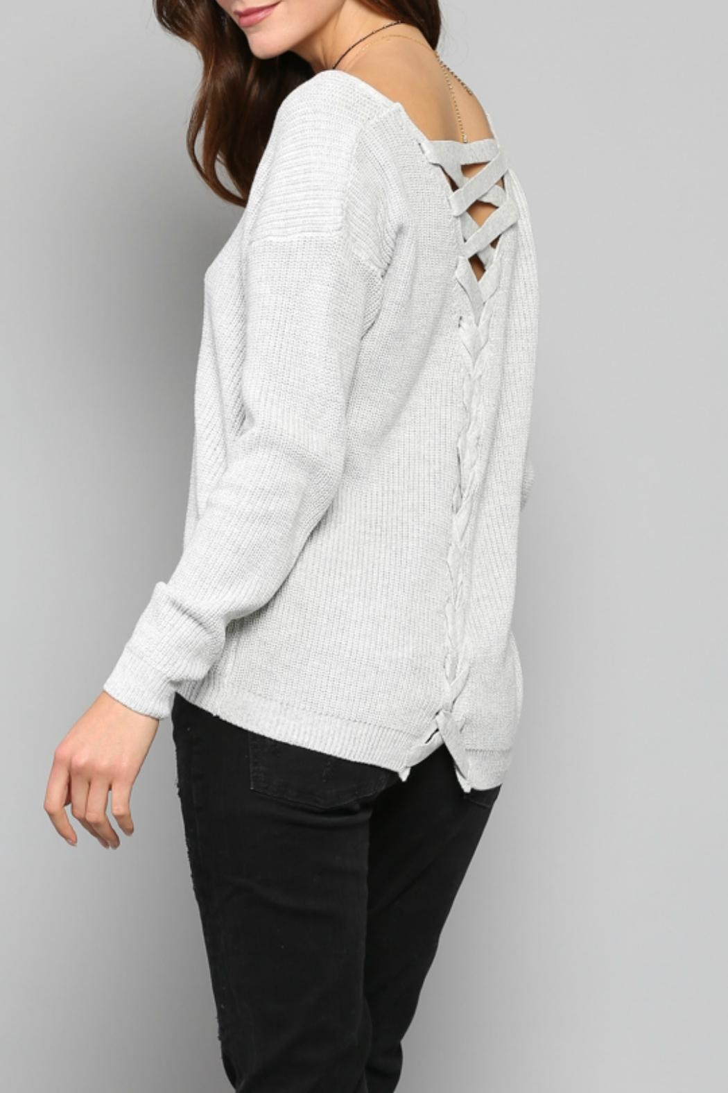 Fate Lace Up Sweater - Front Full Image