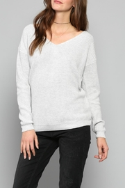 Fate Lace Up Sweater - Front cropped