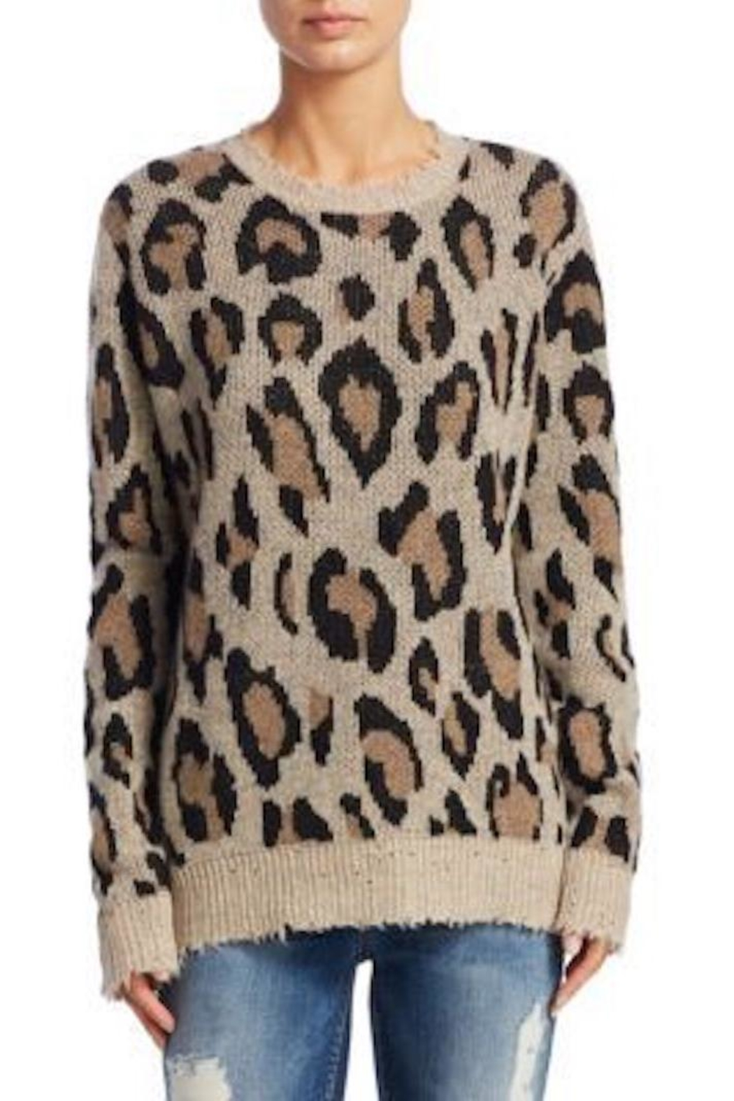 Fate leopard print sweater from san francisco by palette shoptiques fate leopard print sweater front cropped image thecheapjerseys Gallery