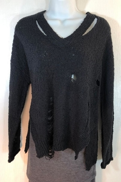 Shoptiques Product: Lightweight Distressed Sweater