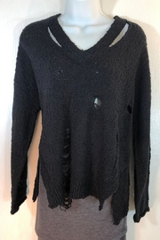 Fate Lightweight Distressed Sweater - Front cropped