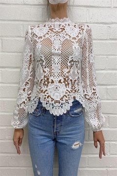 Fate Long-Sleeve Lace Blouse - Alternate List Image