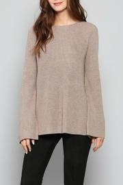 Fate Mocha Backtie Sweater - Product Mini Image