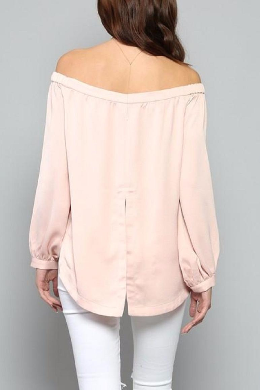 Fate Pink Satin Top - Side Cropped Image
