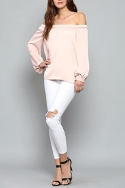 Fate Pink Satin Top - Front full body