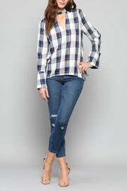 Fate Plaid Choker Top - Product Mini Image