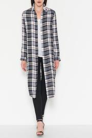Fate Plaid Button Down Tunic - Product Mini Image