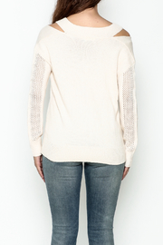 Fate Pullover V Neck Sweater - Back cropped