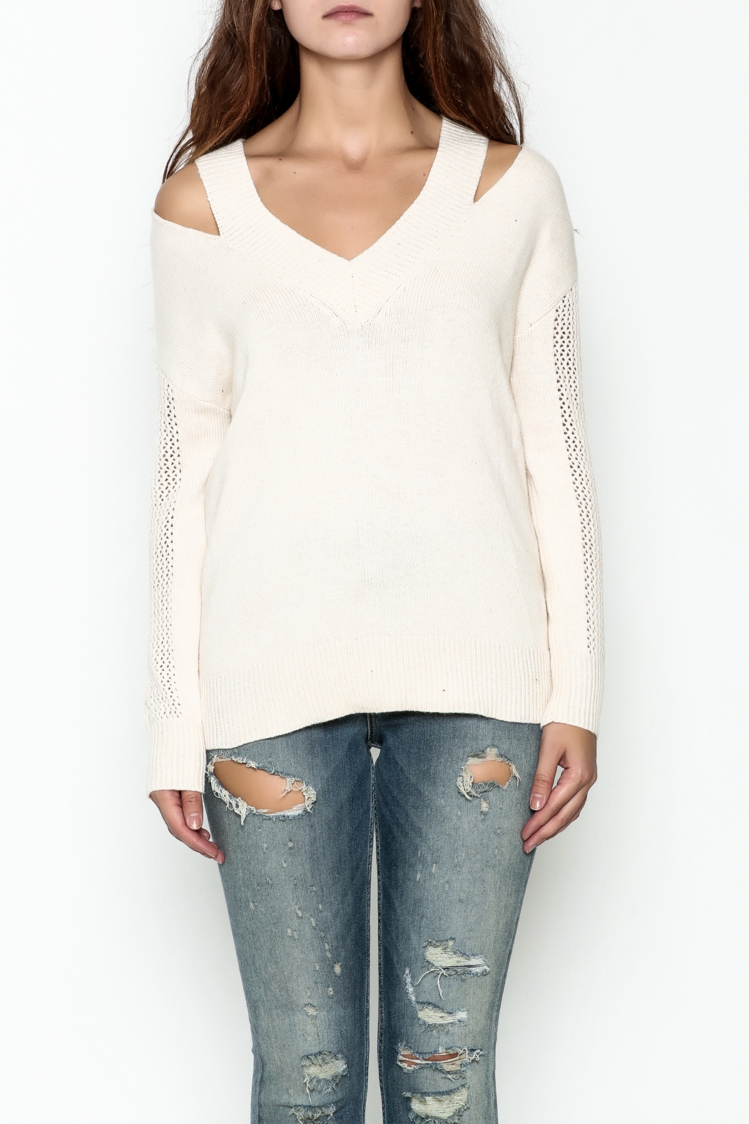 Fate Pullover V Neck Sweater - Front Full Image