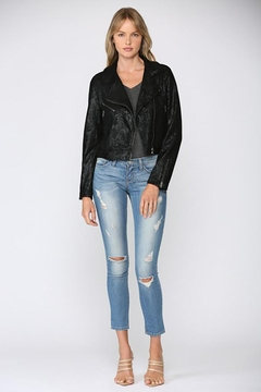 Fate Python Print Faux Suede Moto Jacket - Alternate List Image