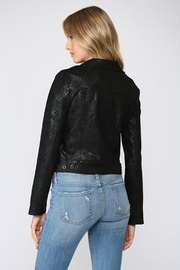 Fate Python Print Faux Suede Moto Jacket - Side cropped