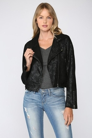 Fate Python Print Faux Suede Moto Jacket - Other