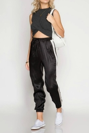 Fate Satin Jogger - Front cropped