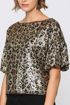 Shoptiques Product: Sequin Animal Print Top