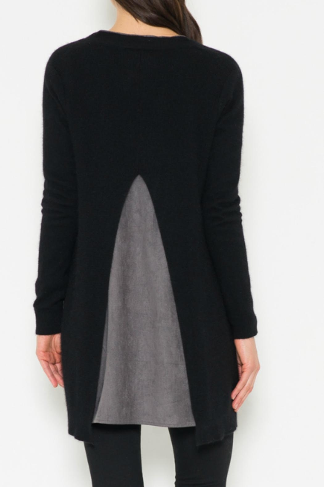 Fate Suede Lined Cardigan - Front Full Image