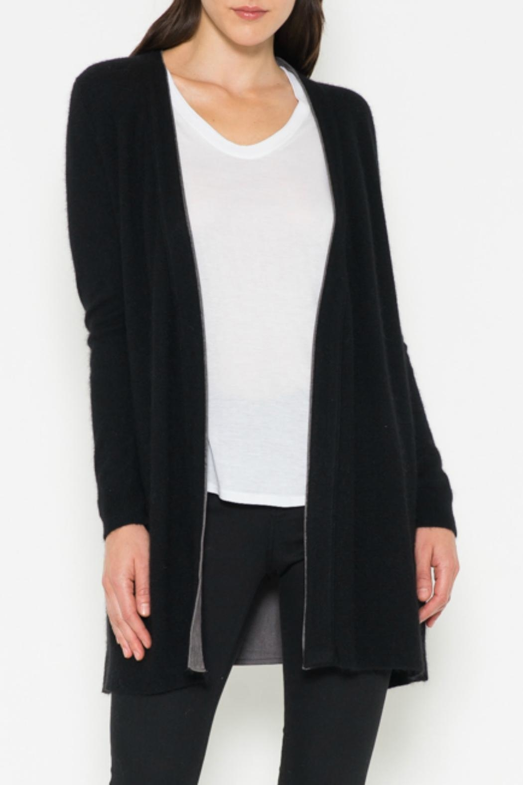 Fate Suede Lined Cardigan - Main Image