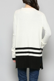 Fate Tricolored Striped Cardiagn - Back cropped