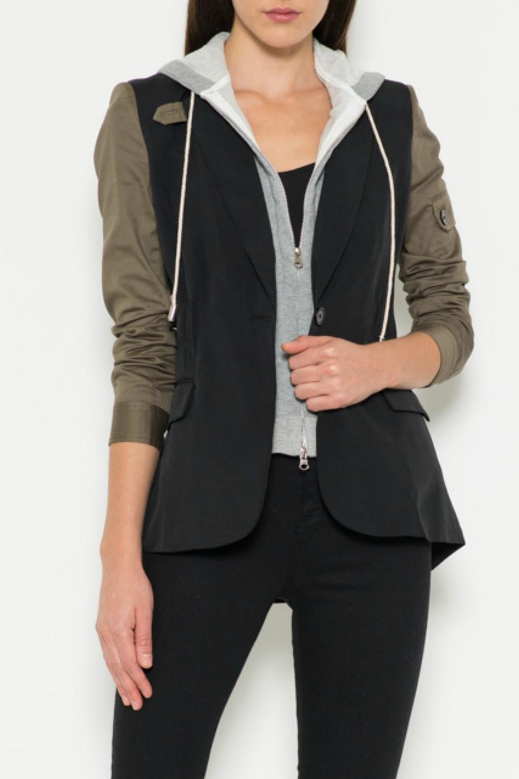 Fate Tuxedo Contrast Jacket - Front Cropped Image