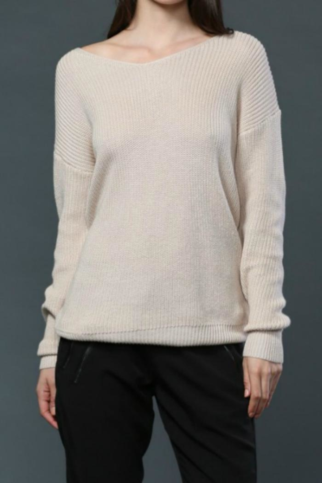 Fate Twist Back Sweater - Side Cropped Image