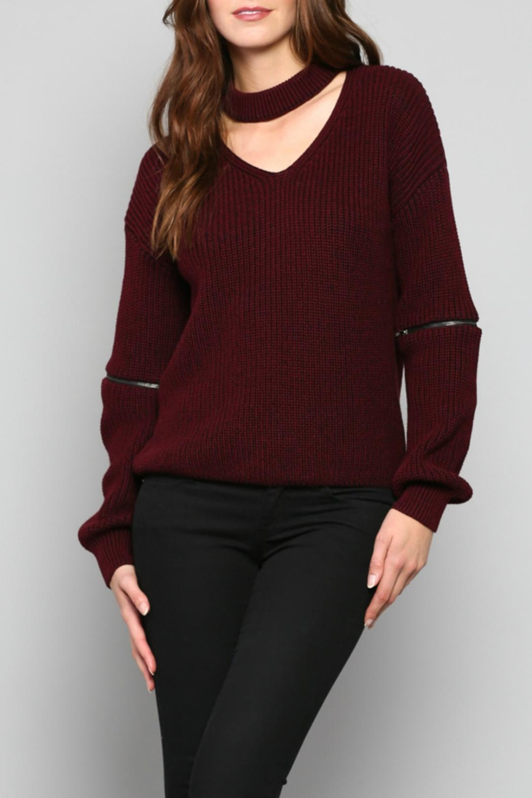 Fate V-Neck Knit Sweater - Main Image