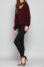 Fate V-Neck Knit Sweater - Back cropped