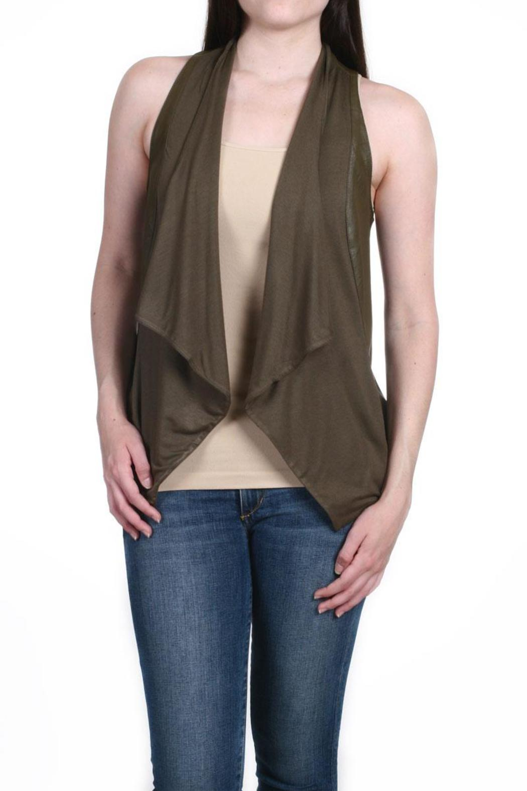 Fate Vegan Leather Vest - Front Cropped Image