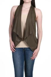 Fate Vegan Leather Vest - Front cropped