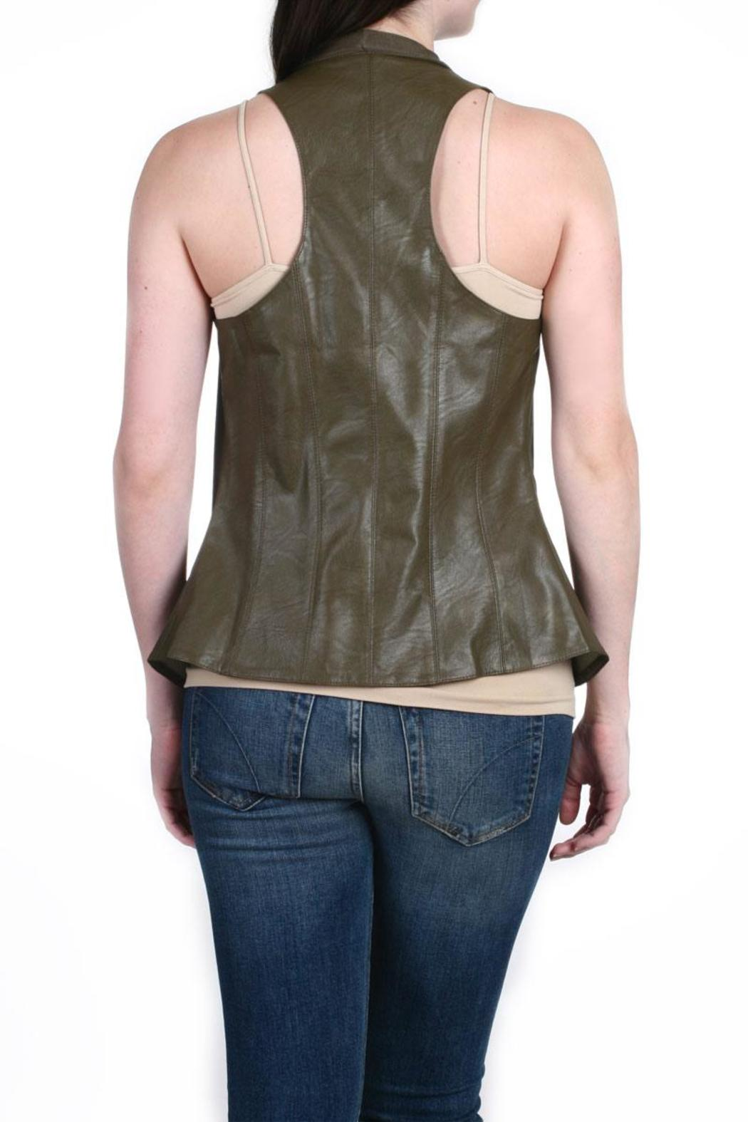 Fate Vegan Leather Vest - Side Cropped Image