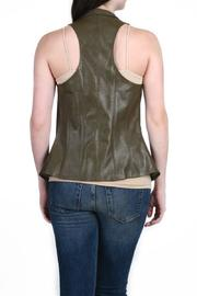 Fate Vegan Leather Vest - Side cropped