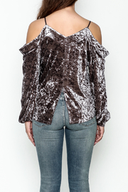 Fate Velvet Top - Back cropped