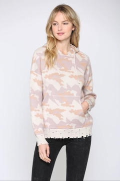 FATE by LFD Camo Hooded Sweater - Product List Image