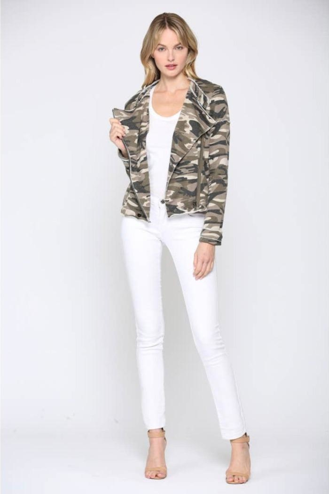 FATE by LFD Camo Printed Jacket - Back Cropped Image