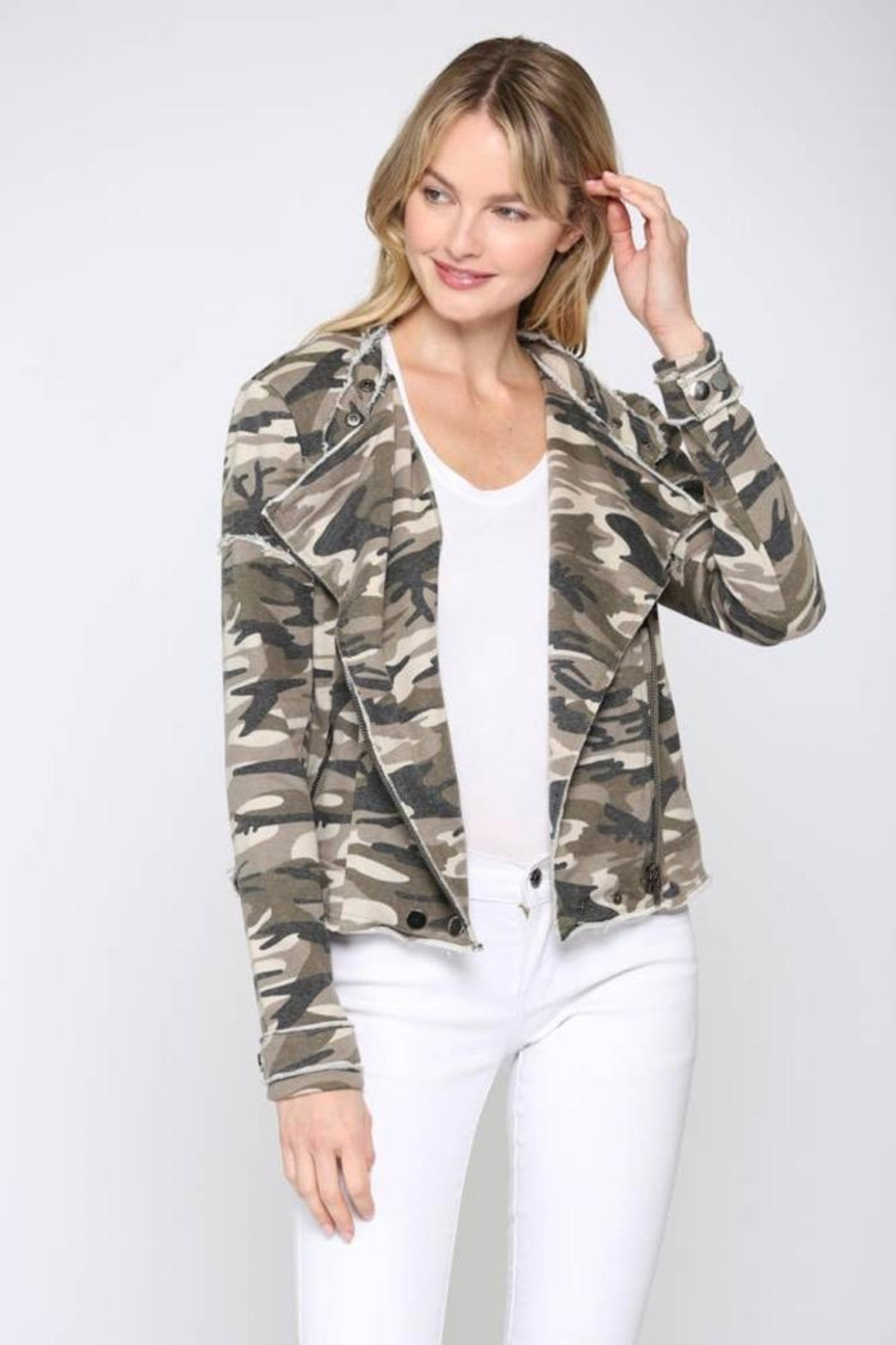 FATE by LFD Camo Printed Jacket - Main Image