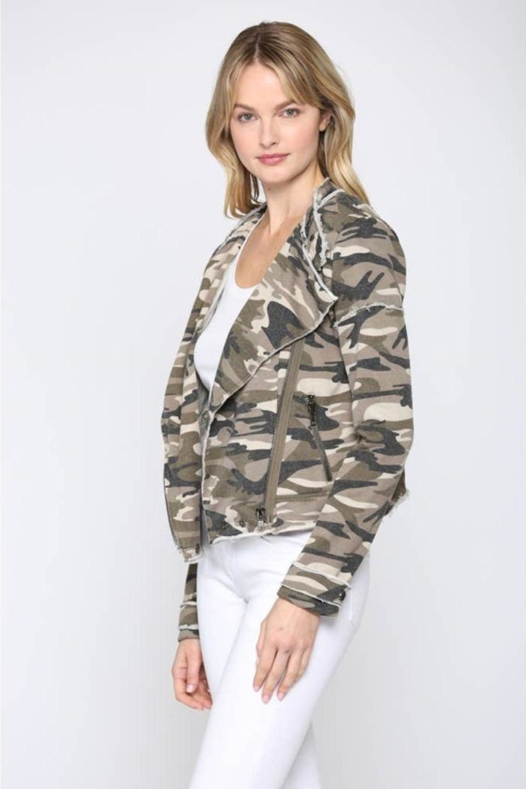 FATE by LFD Camo Printed Jacket - Front Full Image