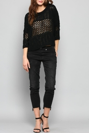 FATE by LFD Chenille Cropped Sweater - Front cropped