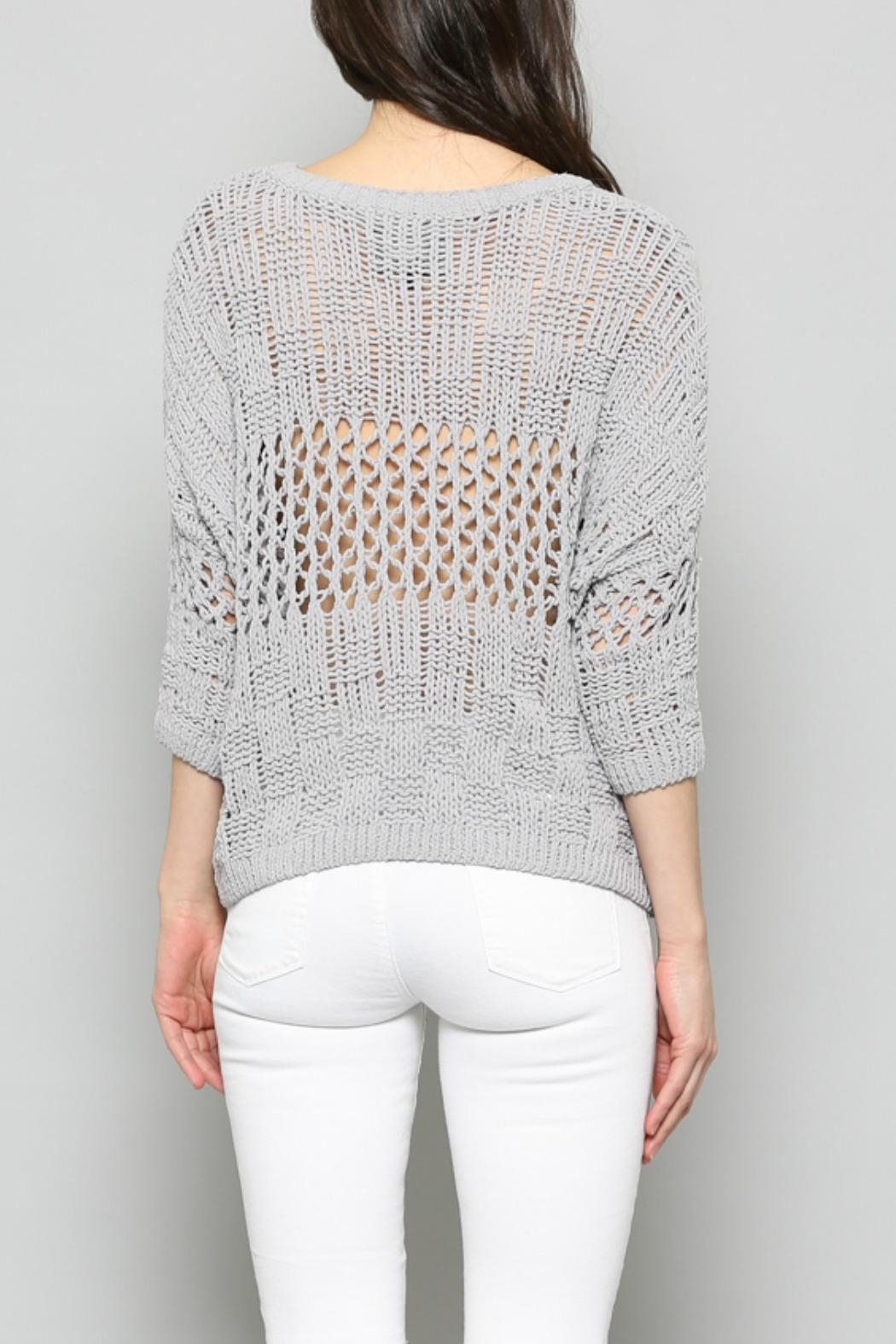 FATE by LFD Chenille Cropped Sweater - Side Cropped Image