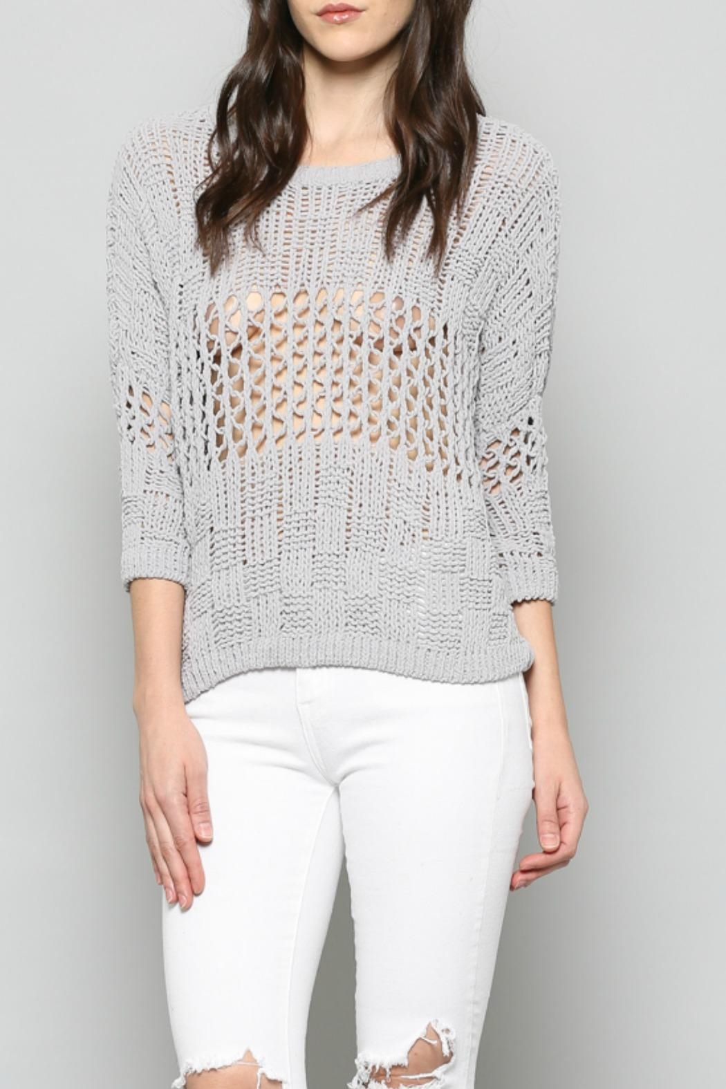 FATE by LFD Chenille Cropped Sweater - Front Full Image