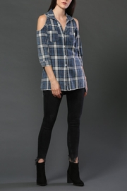 FATE by LFD Cold-Shoulder Plaid Top - Product Mini Image