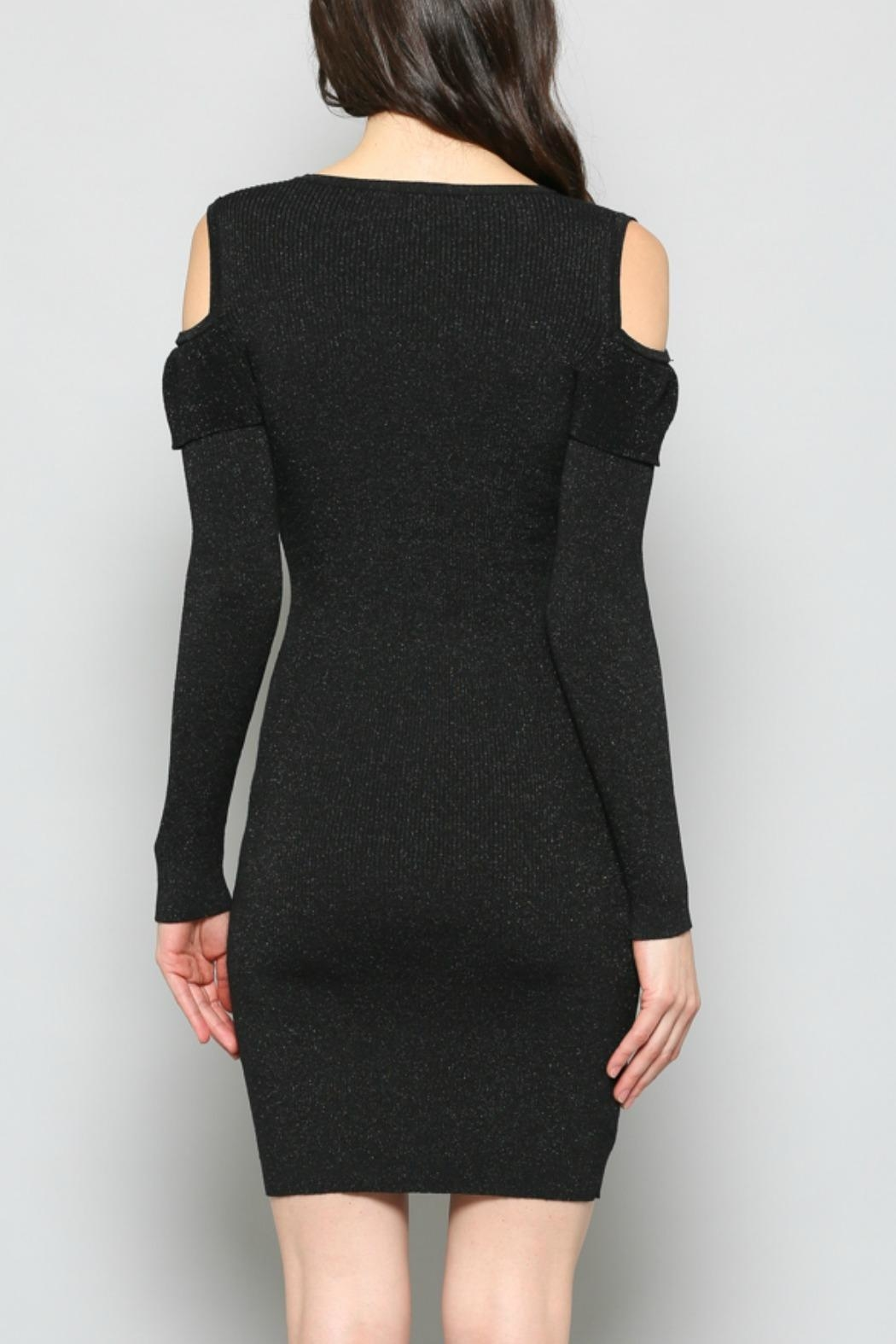 FATE by LFD Cold-Shoulder Rib-Knit Dress - Side Cropped Image