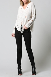 FATE by LFD Distressed Sweater - Front cropped