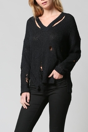FATE by LFD Distressed Sweater - Front full body