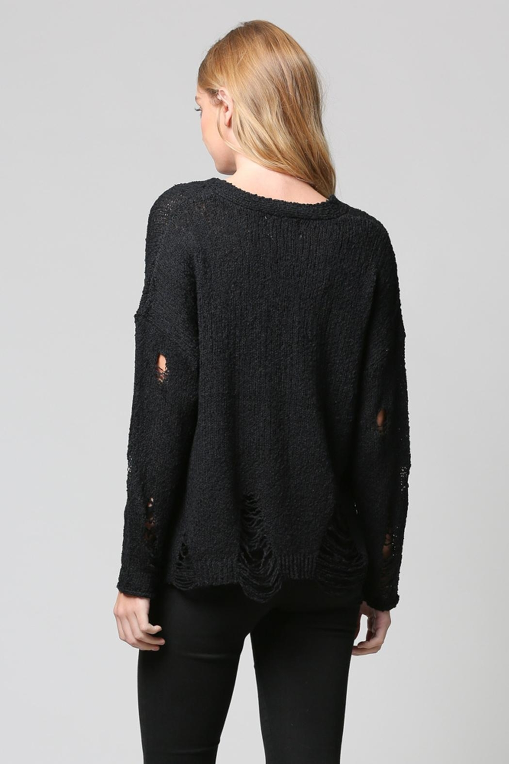 FATE by LFD Distressed Sweater - Side Cropped Image